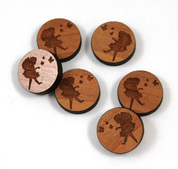 Laser Cut Supplies-8 Pieces.Pixie Charms-Acrylic.Wood Laser Cut Shapes