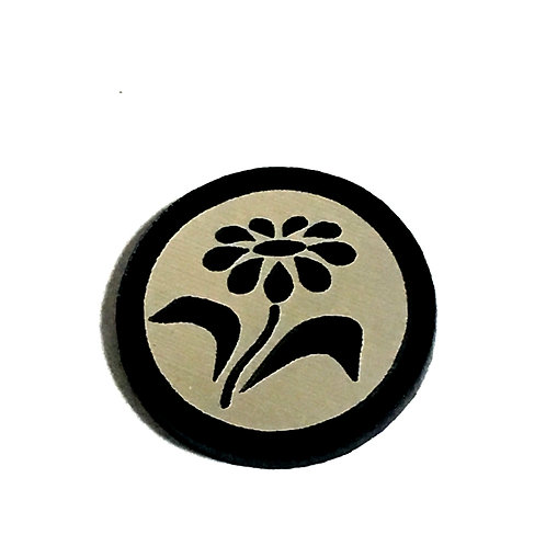 8 Piece. Little Daisy Flower Mini Cabochons-Acrylic Laser Cut Shapes