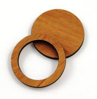 Laser Cut Supplies-1 Piece. Bezel Round Charms-Acrylic.Wood Laser Cut Shape