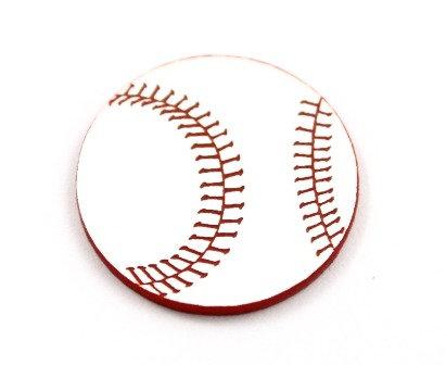 Laser Cut Supplies-8 Piece. Baseball Charms-Acrylic and Wood Lasercut Shapes