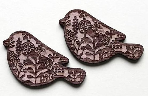 Laser Cut Supplies-1 Piece.Pattern Bird Charms-Acrylic. Wood Laser Cut Shapes
