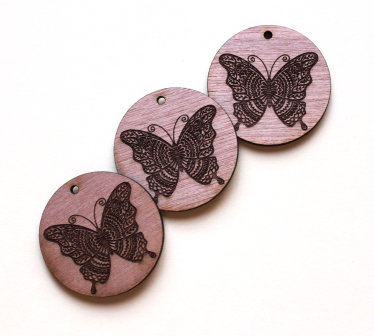Laser Cut Supplies-1 Piece.Butterfly Pattern Charms-Acrylic.Wood Laser Cut Shape