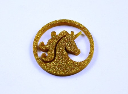 1 Piece. Unicorn Charms-Acrylic Laser Cut Shape