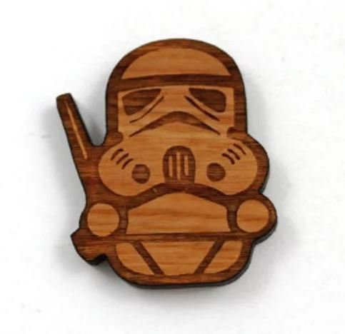 Laser Cut Supplies- 1 Piece.Storm Trooper Charms-Acrylic. Wood Laser Cut Shape