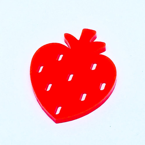 1 Piece. Strawberry Cabochon Charms-Acrylic Laser cut Shapes Online