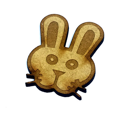 8 Pieces. Bunny Head Mini Laser Cut Charms- Customize Your Laser Cut