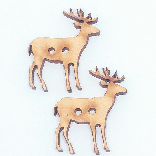 Lasercut Craft Wood –1 Piece. Elk 25mm Wide. Scrapbook. Wood Craft Shape