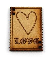 Laser Cut Supplies-1 Piece. Love Tile-Acrylic. Wood Laser Cut Shape