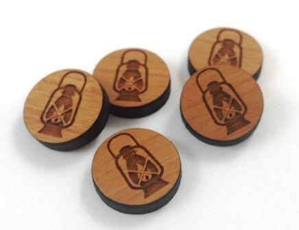 Laser Cut Supplies-8 Pieces. Lantern Charms-Acrylic.Wood Laser Cut Shapes