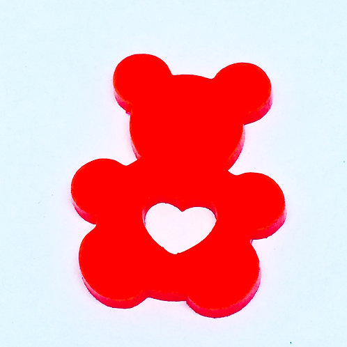 1 Piece. Teddy Bear Love Cabochon Charms-Acrylic Laser cut Shapes Online