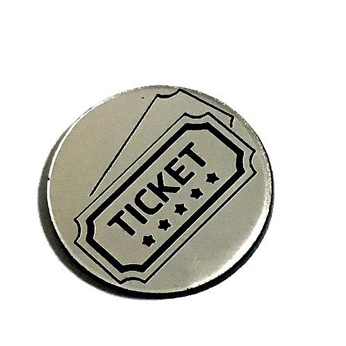 1 Piece. Movie Ticket Cabochon -Acrylic Laser Cut Shapes