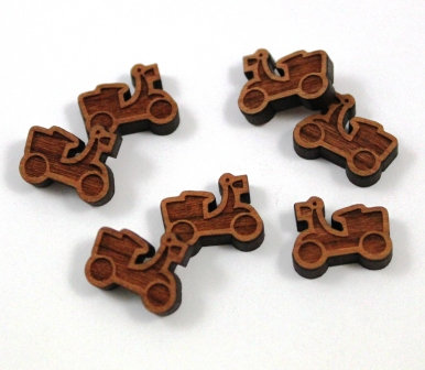 Laser Cut Supplies-8 Pieces.Scooter Charms-Acrylic.Wood Laser Cut Shapes