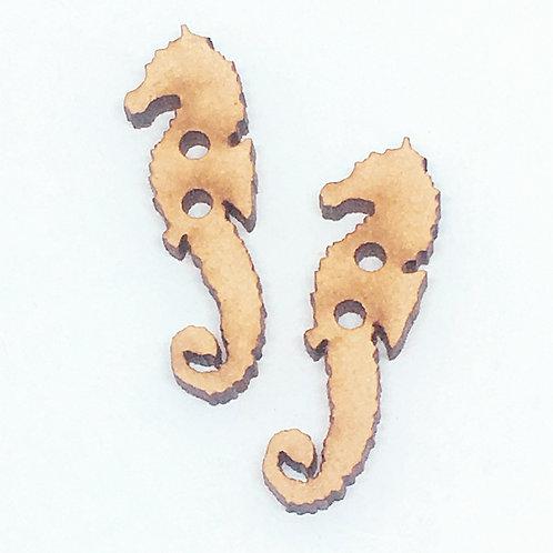 Lasercut Craft Wood –1 Piece. Sea Horse 10mm Wide. Scrapbook. Wood Craft Shape