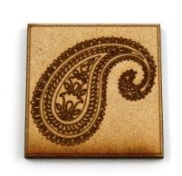 Laser Cut Supplies-1 Piece. Paisley Tile-Acrylic. Wood Laser Cut Sh