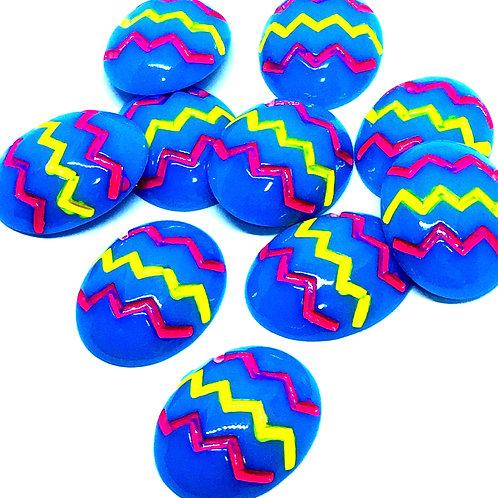 1 Piece. Easter Egg Resin Cabochon Flatbacks