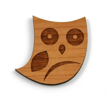 Laser Cut Supplies-1 Piece. Owl Charms-Acrylic. Wood Laser Cut Shape