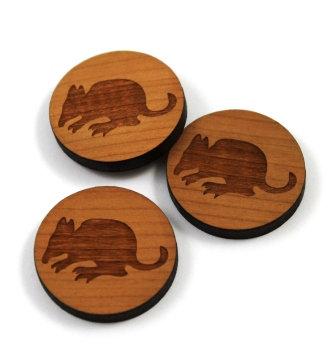 Laser Cut Supplies-8 Pieces.Bandicoot Charms-Acrylic.Wood Laser Cut Shapes