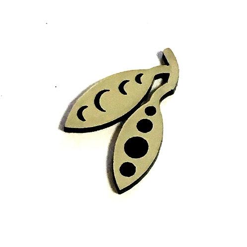 1 Piece. Tree Seed Pod Cabochon -Acrylic Laser Cut Shapes