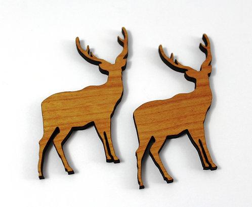 Laser Cut Supplies-1 Piece. Elk Standing Charms-Acrylic. Wood Laser Cut Shape