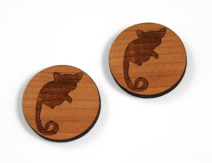 1 Piece. Ring Tail Possum Charms-Acrylic. Wood Laser Cut Shapes