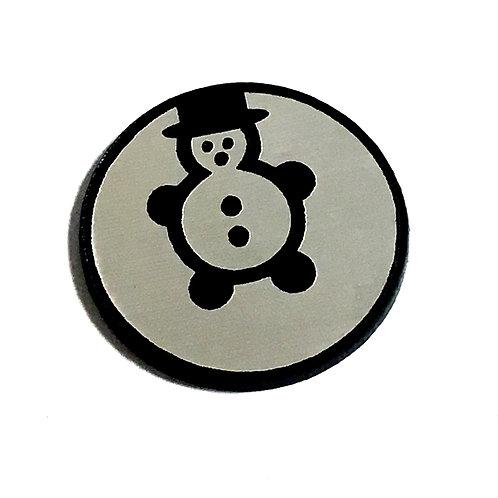 8 Piece. Snowman Mini Cabochons-Acrylic Laser Cut Shapes