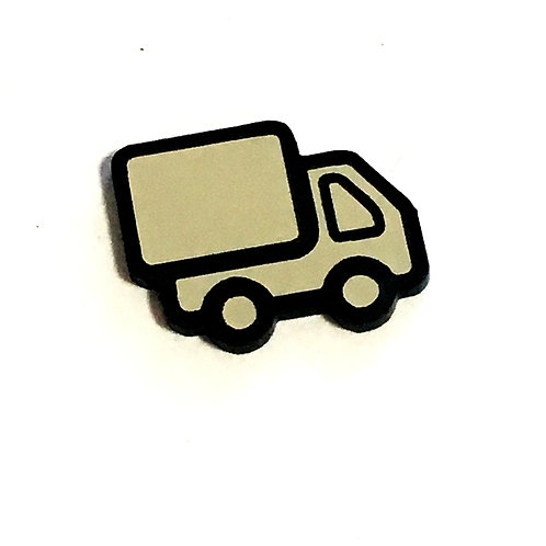 8 Piece. Delivery Truck Cabochons-Acrylic Laser Cut Shapes