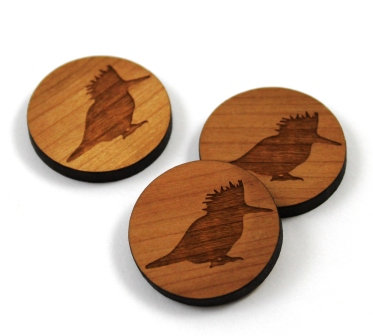 Laser Cut Supplies-8 Pieces.Kingfisher Charms-Acrylic.Wood Laser Cut Shapes