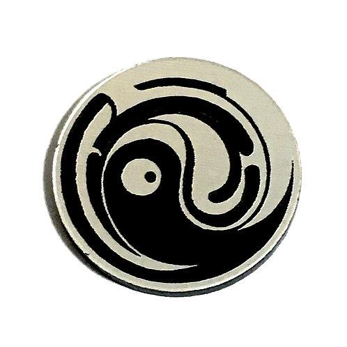 8 Piece. Sweet Swirl Black Pattern Mini Cabochons-Acrylic Laser Cut Shapes