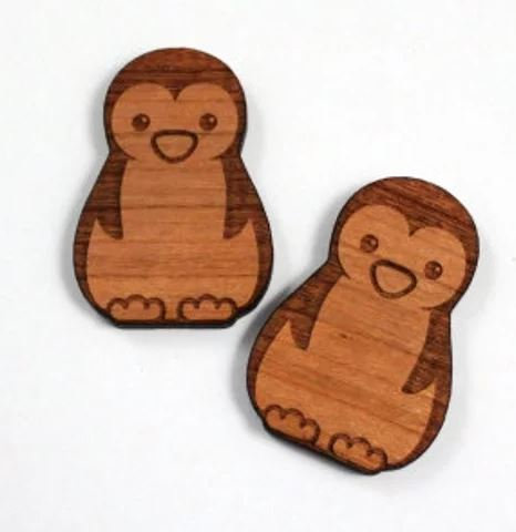 Laser Cut Supplies-1 Piece.Penguin Charms-Acrylic.Wood Laser Cut Shapes
