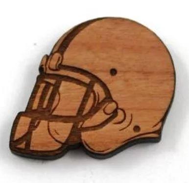 Laser Cut Supplies-1 Piece.Helmet Charms-Acrylic. Wood Laser Cut Shape