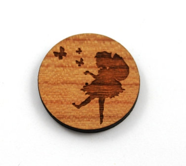 1 Piece. Little Fairy and Butterfly Charms- Wood Laser Cut Shapes