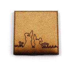 Laser Cut Supplies-1 Piece. Rabbit Tile-Acrylic. Wood Laser Cut Shape