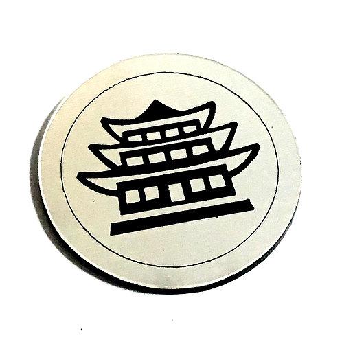 1 Piece. Chinese Pagoda Cabochon -Acrylic Laser Cut Shapes