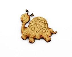 1 Piece. Happy Turtle Charms-Wood Laser Cut Shape