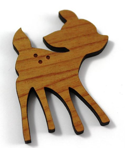 Laser Cut Supplies-1 Piece.Fawn Charms-Acrylic.Wood Laser Cut Shape