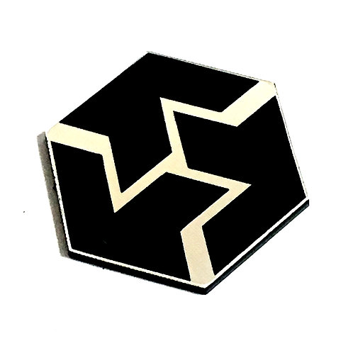 8 Piece. Geo Pentagon Mini Cabochons-Acrylic Laser Cut Shapes