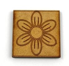 Laser Cut Supplies-1 Piece. Petal Tile-Acrylic. Wood Laser Cut Shape