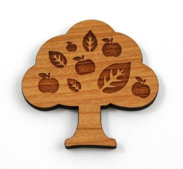 Laser Cut Supplies-1 Piece. Apple Tree Charms-Acrylic. Wood Laser Cut Shape