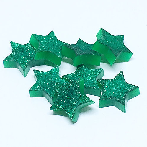 Laser Cut Supplies-8 Piece. Star Charms-Acrylic.Wood Laser Cut Shapes
