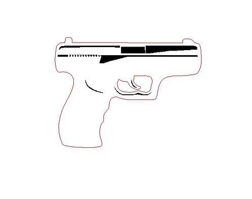 Laser Cut Gun Charm