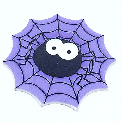 Laser Cut Supplies-2 Piece. 45mm Halloween Spider Charms-Laser Cut Acrylic