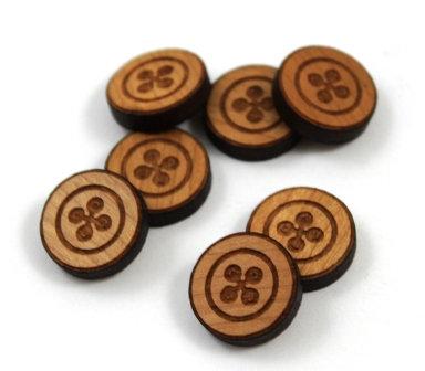 Laser Cut Supplies-8 Pieces.Button Charms-Acrylic.Wood Laser Cut Shapes