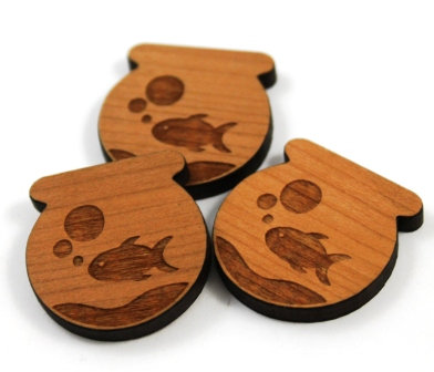 Laser Cut Supplies-8 Pieces.Fish Tank Charms-Acrylic.Wood Laser Cut Shapes