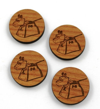 1 Piece. Dr Who K-9 Charms- Wood Laser Cut Shapes
