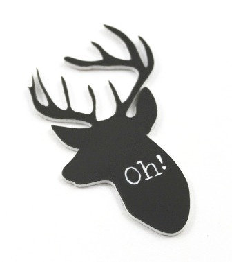 1 Piece. Oh Deer Charms -Acrylic Laser Cut Shape