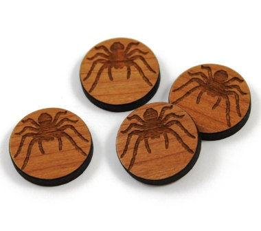Laser Cut Supplies-8 Pieces.Spider Charms-Acrylic.Wood Laser Cut Shapes