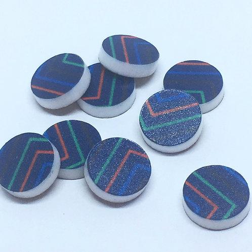 Laser Cut Supplies-8 Piece. 12mm Modern Circle Charms-Acrylic.Wood Laser Cut Sh