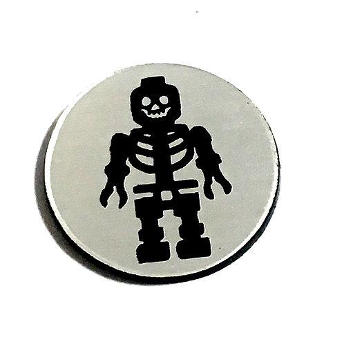 8 Piece. Skeleton Blockman Mini Cabochons-Acrylic Laser Cut Shapes