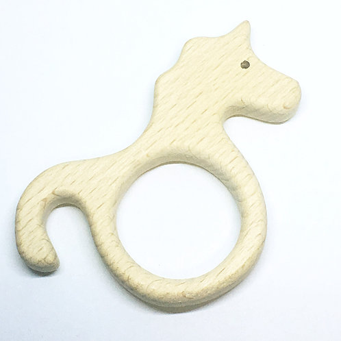 Beech Wooden Unicorn Charm Pendant. 90mm wide. Wooden Shape