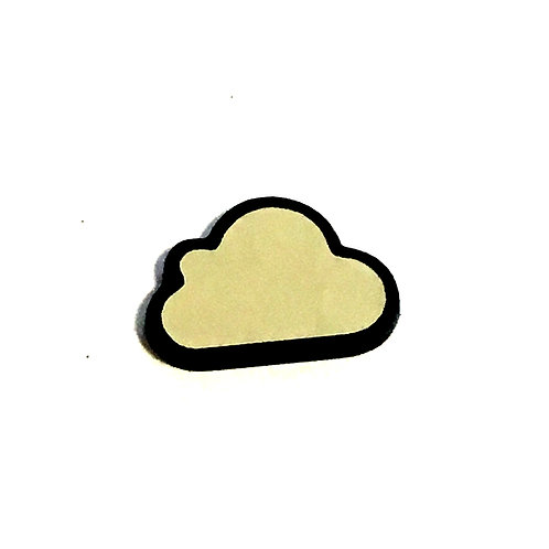 8 Piece. Fluffy Little Cloud Cabochons-Acrylic Laser Cut Shapes